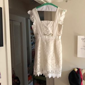 Dresses & Skirts - Lace embroidered white dress